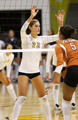 WVB - Texas vs LBSU 1 (Ballin' at The Beach) Tags: texas longhorns ncaa csulb preseason big12 lbsu bigwest womensvolleyball walterpyramid longbeachstate