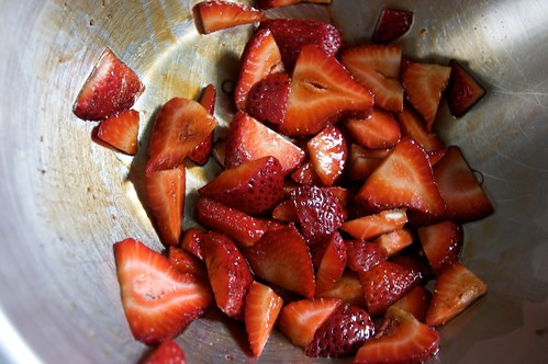 strawberries in balsamic