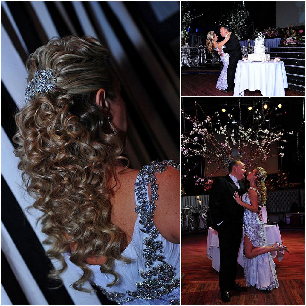 Silver Anniversary,  crystal haircomb, custom caketopper, Bridal Styles New York, Videomax Studios