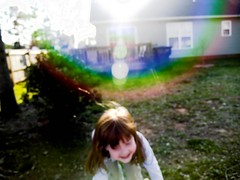 Fantastic. (adhadda kedhabhra) Tags: lauren childhood kid amazing fantastic rainbow perfect glare shine child bright rays