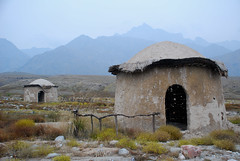 Not quite as old as it looks... (NowJustNic) Tags: china mountain grass set nikon hut 中国 ningxia helanmountains helanshan 宁夏 d80 nikkor18135mm