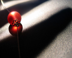 shadows in the background (mokotowska) Tags: red macro glass ball shadows redball refflection