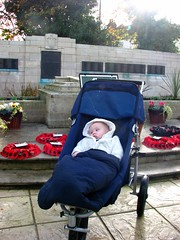 baby and Lambeth civilian war memorial