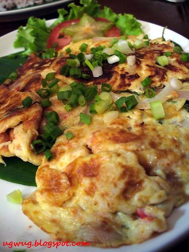 otak-otak omelette