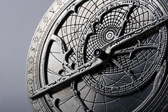 astrolabe (mangpages) Tags: macro 20d monochrome metal canon eos equipment instrument astronomy pewter soe astrolabe vob