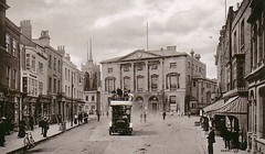Chelmsford, The Shire Hall (Stuart Axe) Tags: city uk greatbritain england blackandwhite bw building bus history sepia court town hall unitedkingdom postcard victorian scan historic scanned gb georgian courthouse highstreet essex citycentre oldbuilding 18thcentury edwardian omnibus listed chelmsford portlandstone listedbuilding fascade crowncourt shirehall magistratescourt johnjohnson witchfindergeneral countytown countyofessex unlimitedphotos theshirehall matthewhopkins chelmsfordhighstreet cityofchelmsford