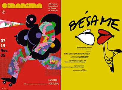 Carteles en la Bienal de Madrid