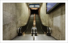treadmill (Toni_V) Tags: longexposure station topv111 architecture d50 concrete zurich escalator perspective sbb calatrava soe santiagocalatrava stadelhofen sigma1020mm blueribbonwinner 10faves toniv ©toniv diebahnpolizeideinfreundundhelfer
