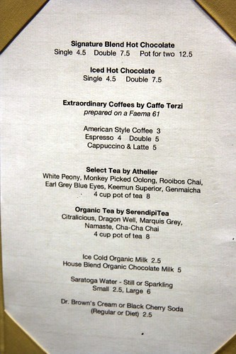 Menu...page 3 (non-alcoholic stuff)