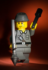 Brickarms' German Genadier (Balakov) Tags: portrait macro soldier lego german ww2 minifig grenadier brickarms