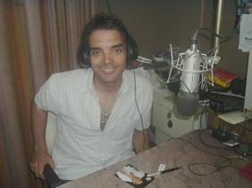 Alejandro Ceberio en los estudios centrales de FM2000