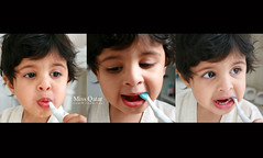 I hate the dentist (Missy | Qatar) Tags: cute tooth cookie little teeth small bobo brush your toothbrush mashallah alkhater