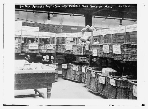 British Parcels Post-sorting parcels for foreign mail  (LOC)