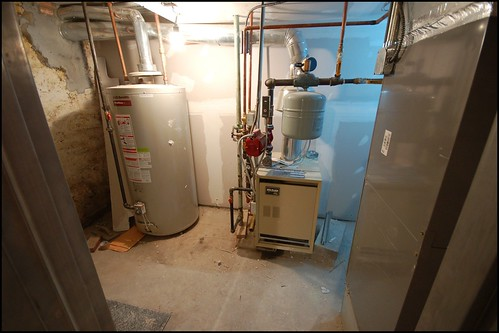 Mechanical Room: Boiler & Hot Water Heater