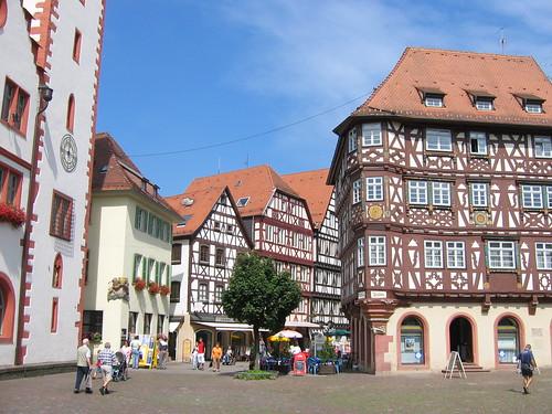 Mosbacher Marktplatz (c) by Peter Chappell