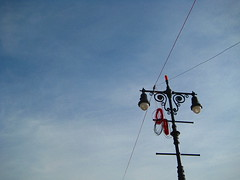 street light (pondblue) Tags: nyc beach coneyisland calm wires sound boardwalk lightfixture colorcolor  ayoc2