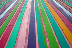 Line up the color (427) Tags: park pink blue color green lines yellow oregon woods factory baker purple or stripes science line eugene explore catchycolor alton strips linear eugeneor eugeneoregon altonbaker altonbakerpark sciencefactory borderingperception thesciencefactory
