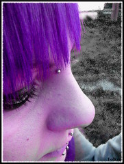 Face C: purpleSid (#PrOtOtIpO23) Tags: people dark poser punk alone colore emotion sid piercing viola prato pensieri sola serio fabiana ravers siderartica impostato