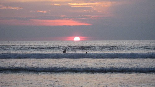 Bali sunset at Kuta Beach