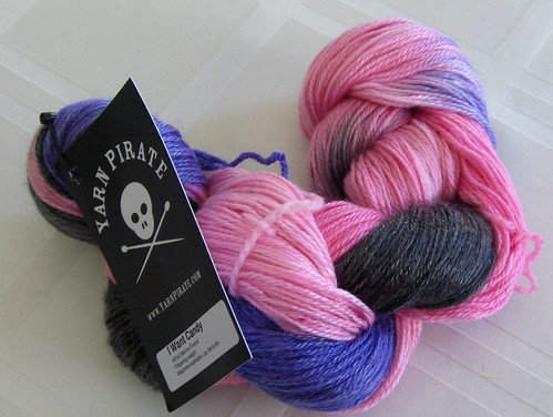 Yarn Pirate Merino/Tencel in I Want Candy