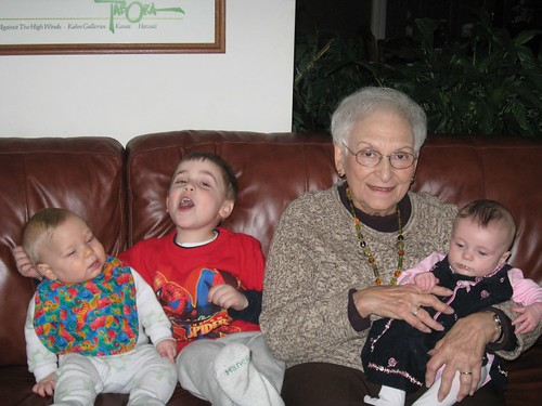 Mimi & Great grandkids - take 4
