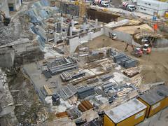Baustelle am Limbecker Platz in Essen