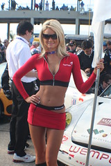 Kumho Tire Girl (The Freewheeling Daredevil) Tags: race racecar model tire racing blonde autoracing sebring daredevil sportscar alms racequeen kumho umbrellagirl americanlemansseries gridgirl flaggirl 12hoursofsebring