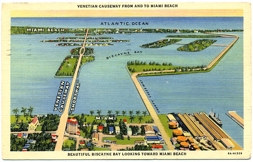 VENETIAN CAUSEWAY FROM AND TO MIAMI