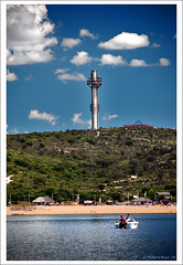 "Las Playas del lago San Roque... y la Torre ""Pato""! (B'Rob) Tags: travel blue lake streetart color tower art tourism beach water argentina true azul lago photography boat photo yahoo google nikon flickr paradise picture playa tourist colores best cielo wikipedia eden paraiso mejor bote villacarlospaz d40 brob lagosanroque brobphoto"