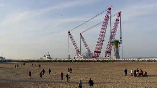 C-Power foundation leaving Oostende harbor