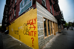 agreed (sgoralnick) Tags: nyc eastvillage newyork public bad ugly nycguessed wtf renovation opinion repaintedbanksy