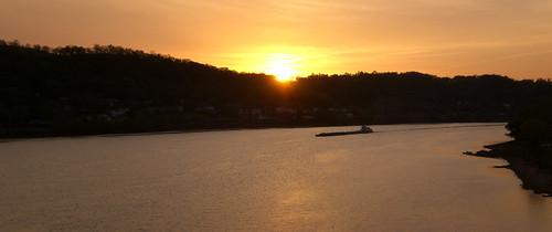sun Setting On The Ohio