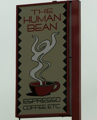 Bean there, done that (GustavoG) Tags: coffee sign shop bean human espresso ashland pun punny