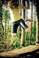 FOLLOW (besimo) Tags: tree forest photoshop jump nikon focus follow wald janina milena lightroom 35mmf20 nikond80 projekt365 portrt besimmazhiqi