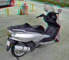 Scooter (Anaglyph 3D) (patrick.swinnea) Tags: stereoscopic stereophoto 3d vespa scooter anaglyph vehicle