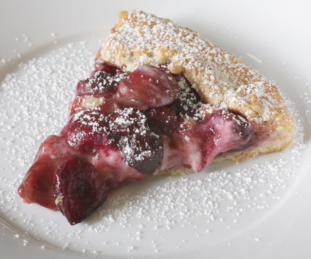 cherry cheesecake galette