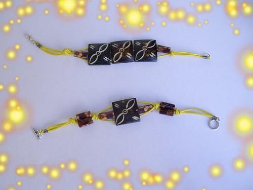 pulseras madera e hilo de algodon encerado by llaverito1979