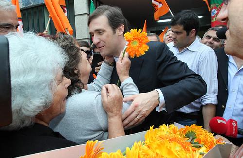 Pedro Passos Coelho arruada em Vila Real