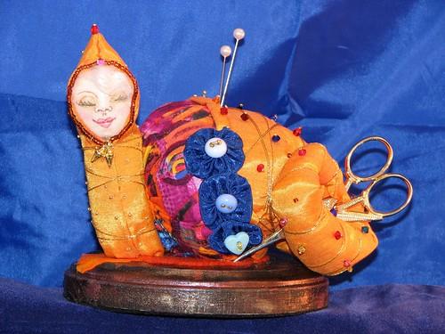 snail pincushion