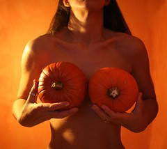 Day #302 -Double D Pumpkins (sosij) Tags: orange selfportrait halloween pumpkin pumpkins 365 sic day302 doubled twtme ifihadboobsthisbigtheywouldscareme forgivemeicouldntthinkmuchfurtherthanthisimagewhenpresentedwithtwohomegrownsmallbutsimilarsizedpumpkins