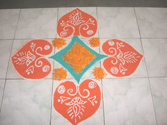Colorful Rangoli with flowers (worldofmusica) Tags: colorful diwali rangoli rangolidesign floralrangoli diwalidecoration colorfulrangoli