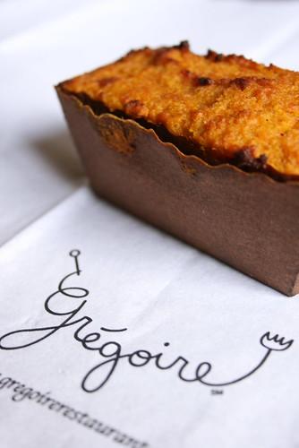grégoireのPumpkin bread pudding