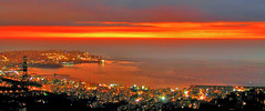 A colorful Night (Fadi Asmar ^AKA^ Piax) Tags: lebanon balcony beirut liban anothersunset rabieh rabweh aplusphoto diamondclassphotographer colourartaward theperfectphotographer beirutseenfrommyplace lovethisview ihateelectricitywires