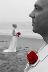 Ready and Red to Wed (Jacob K. Cunningham) Tags: ca wedding portrait people usa beach santabarbara marriage wed portraiture weddingphotography flickrsbest jacobkcunningham