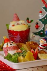 Merry Christmas to you :D (luckysundae) Tags: bento kyaraben bentoboxobento kidsmealchristmassnowman