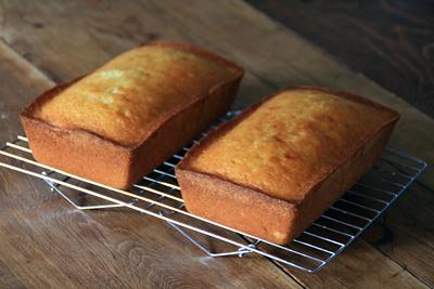Vanilla Pound Cake w/ Rum Syrup