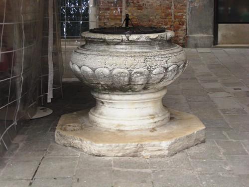 former baptismal font