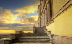 Stairway (Wolfgang Staudt) Tags: door sunset sky clouds roth germany landscape deutschland nikon europa europe wine nikond70 tripod sigma oldschool tor schloss pfalz alemanha reben wein pflaster rheinlandpfalz mosaik schloberg eisen weingut landau weinstrae torbogen pflastersteine winzer earlywinter sdlicheweinstrae ludwigshhe edenkoben lateautumn rhinelandpalatinate palatinate villaludwigshhe wolfgangstaudt margaretenstrae josephhoffmann colourartaward renniapalatinado rothunterrietburg ludwigivonbayern mosaikfuboden