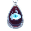 Purple Evil Eye Pendant with Diamonds