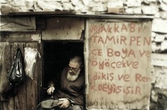 repairman (Mehmet Babalolu) Tags: wood old man black yellow foot shoe back europa uncle poor istanbul resolution mustache boya mehmet fakir determination oldboy baraka azim sokak ayak repairman poorness avrupa sakal amca balat ayakkab arka torba poet streeth yal tahta rak fakirlik tamirci yaamak inadna babalolu